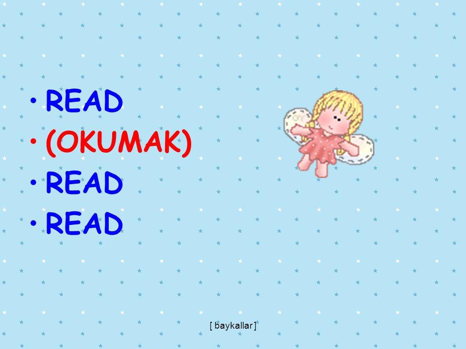 READ (OKUMAK) [ baykallar ]